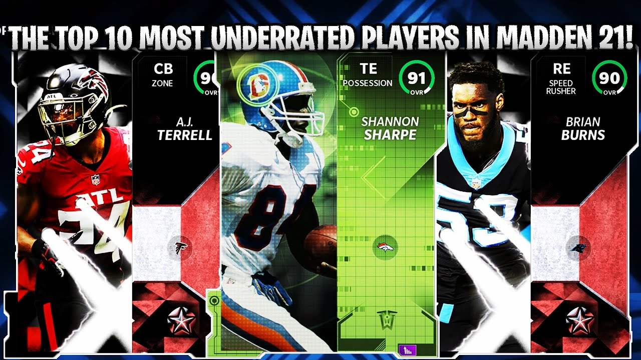 THE TOP 10 MOST UNDERRATED CARDS IN MADDEN 21! | MADDEN 21 ULTIMATE TEAM