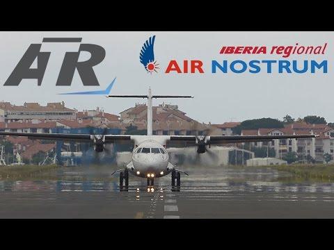 ATR 72-600 Air Nostrum Landing Airport San Sebastián.