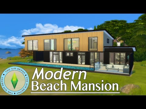 The Sims 4 House Build   Modern Beach Mansion