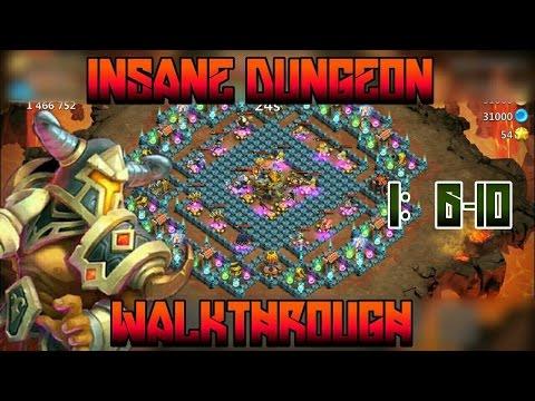 Castle Clash: Insane Dungeon 1 6-10 | Walkthru