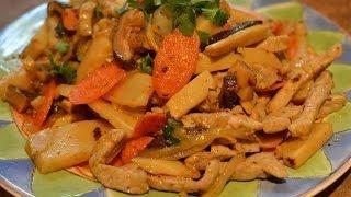 Taiwanese Bamboo And Pork Stir-fry    竹筍炒肉絲