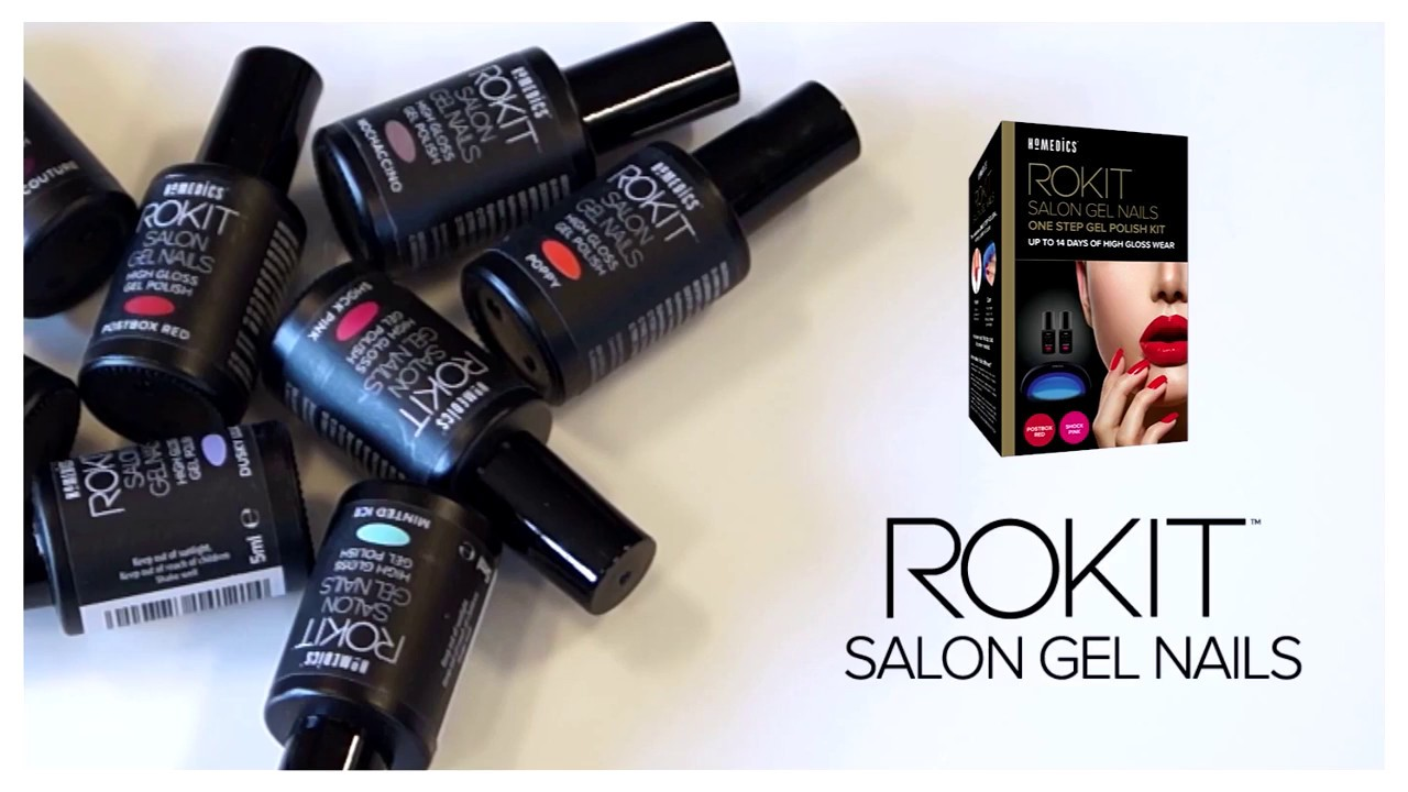 Rokit Professional Gel Nail Polish Kit with UV Lamp - YouTube