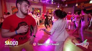Gleb Chernichuk and Elizaveta Carracedo Salsa Dancing at Rostov For Fun Fest 2018, Sat 03.11.2018