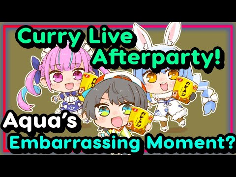 【ENG Sub】Oozora Subaru - Pekora and Aqua have Dinner after their Curry Live Concert