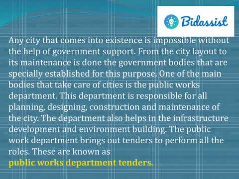 Public Works Department Tenders Online