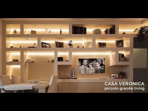 Libreria Cartongesso per Arredare in Soggiorno - Casa Veronica ...