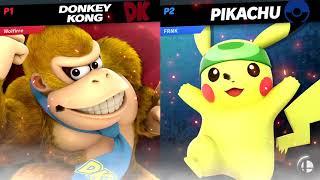 SJE 2019 Smash Ultimate - Wolfirre (Donkey Kong)  Vs. FRNK (Pikachu) - Singles Losers Round 4