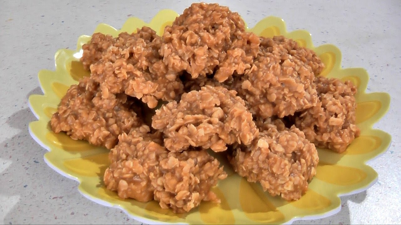 No Bake Butterscotch Cookies Recipe - YouTube