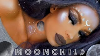 MOONCHILD Halloween Makeup Tutorial /Nikki French