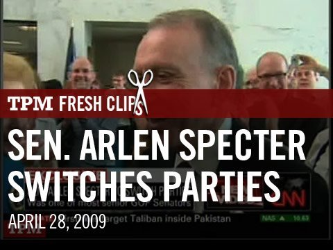 Sen. Arlen Specter Switches Parties