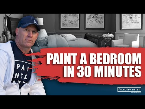 Painting A Bedroom In 30 Minutes. How To Paint A Room Fast. - YouTube