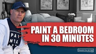 Painting A Bedroom In 30 Minutes. How To Paint A Room Fast.