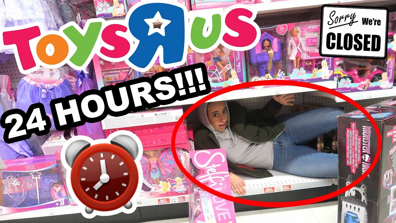 Hiding Overnight In Toys R Us 24 Hour Fort Challenge Youtube