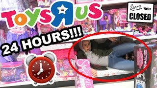 HIDING OVERNIGHT IN TOYS R US!! ⏰  24 HOUR FORT CHALLENGE 😮