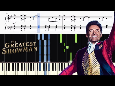 The Greatest Showman - Rewrite The Stars - Piano Tutorial + SHEETS