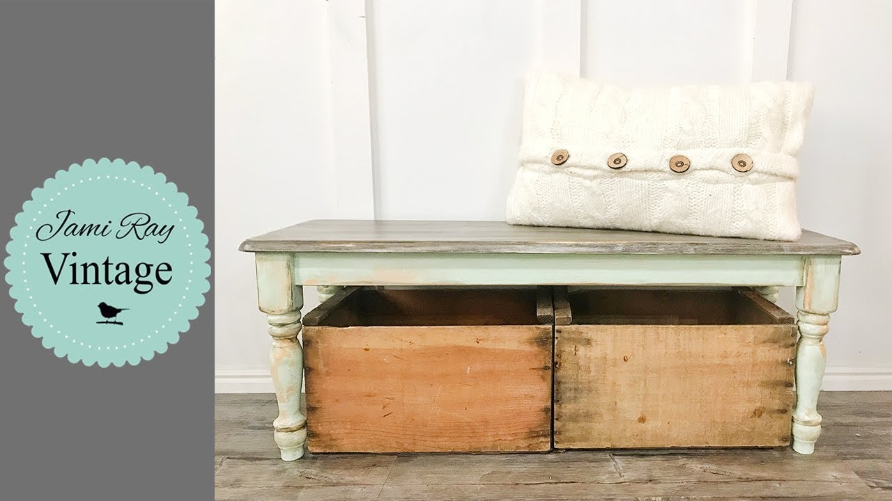 How I Sell Furniture | Faux Finish On A Bench