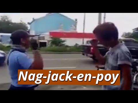 UB: Traffic enforcer at nasitang rider, nag-jack-en-poy