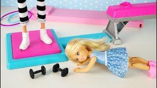 СЛАБАЧКА ИЛИ СТРОГИЙ ТРЕНЕР??? Мультик #Барби Школа Гимнастика Соревнования Играем в Куклы Игрушки