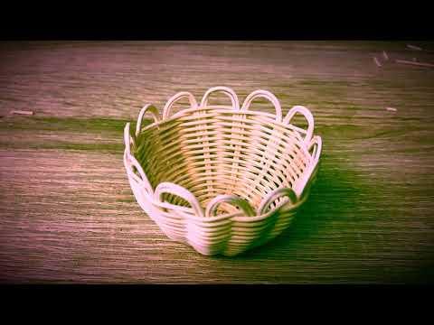 How to make(DIY) miniature rattan basket