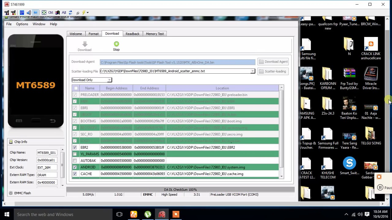 How To Flash Panasonic P55 MTK 6589 by Sp flash Tool