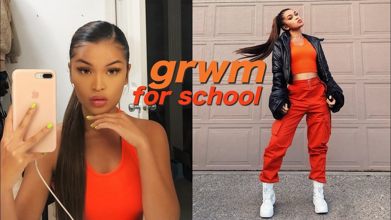 my first day of school grwm vlog koleen diaz youtube