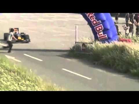 Fan gets hit by Sebastien Buemi's Red Bull showcar