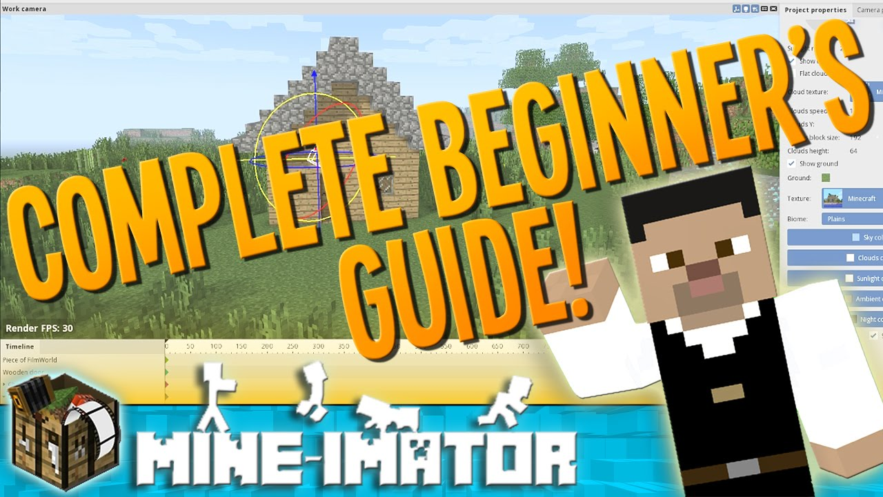 A Beginners Guide To Animating With Mine Imator Mine Imator Tutorial 1 Youtube