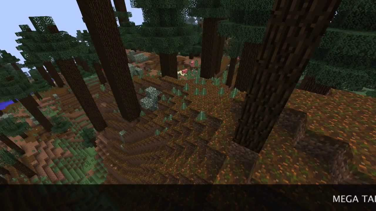 Minecraft 1 7 2 Mega Taiga Biome Seed Youtube