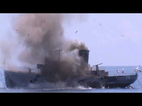 US Coast Guard Cutter Mohawk Artificial Reef - Video shot from  friends and family boat