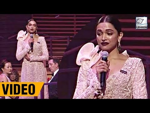 Deepika Padukone's Full Speech At Time's 100 Most Influential People in 2018  LehrenTV