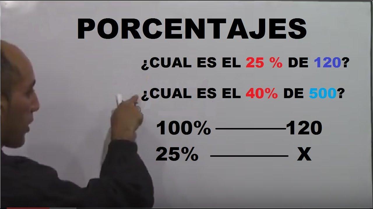 Porcentajes con regla de tres - Como calcular el tanto