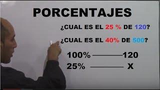 Porcentajes con regla de tres - Como calcular el tanto % de un número