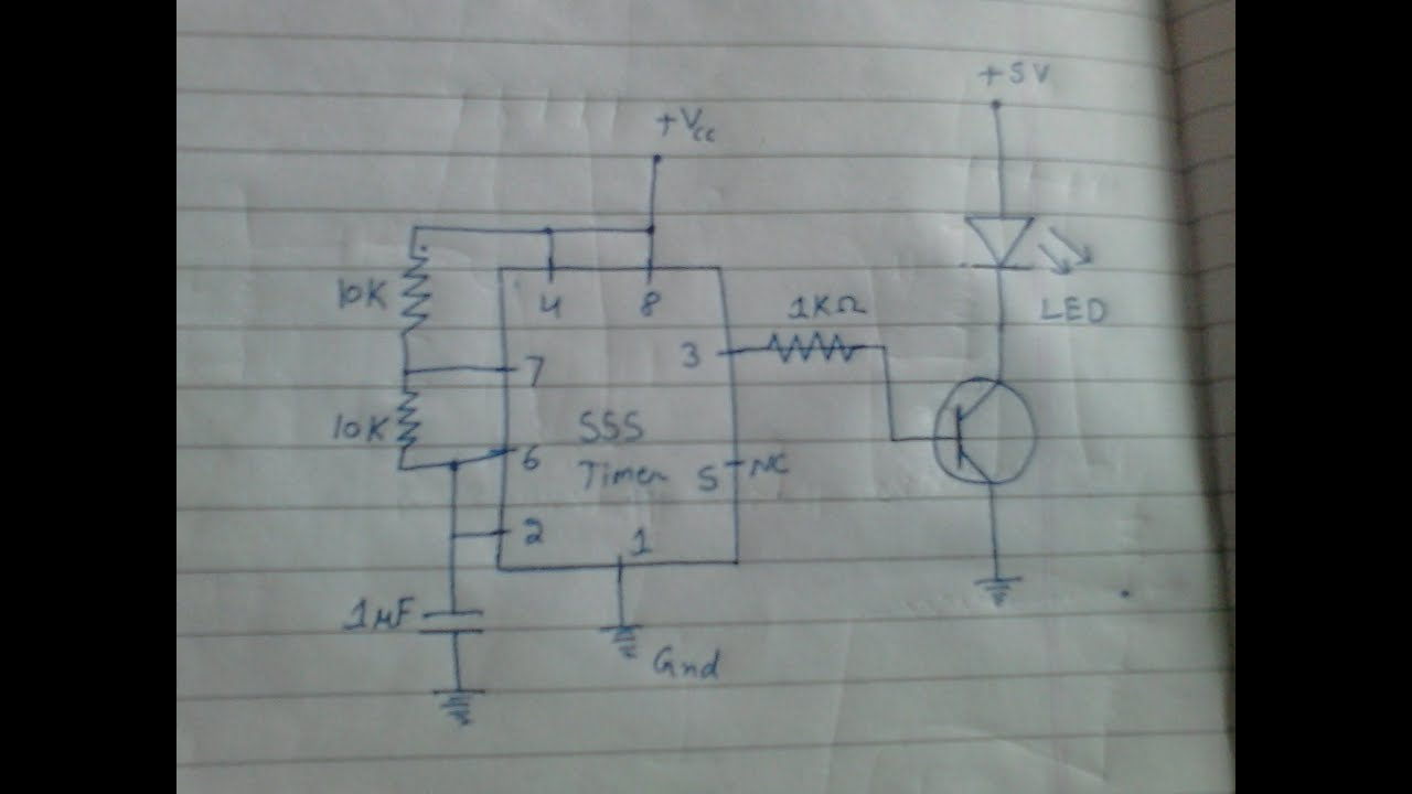 Circuit Diagram For Strobe Light Using 555 Timer Ic T Simple Led Schematic Flashingledunitcircuit