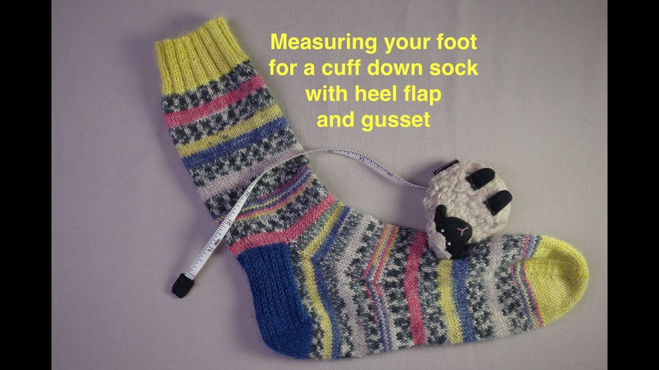 Measuring Your Foot For A Sock Youtube