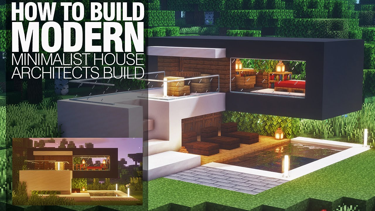 Minecraft Build : How to Build Modern House : Minimalist House : An  Architects Build
