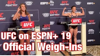 UFC On ESPN+ 19 Official Weigh-Ins: Joanna Jędrzejczyk vs Michelle Waterson