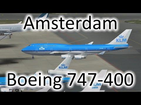 FSX | 747 Landing at Amsterdam, Netherlands (EHAM) (Multiple Views)