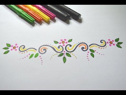 Como desenhar Arabesco Simples passo a passo - YouTube