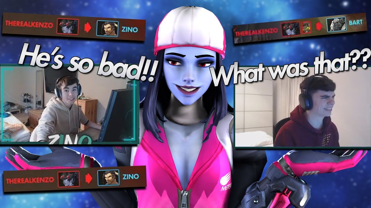Toxic Twitch Streamers reaction to me killing them with Widowmaker - Overwatch thumbnail