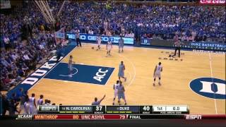 #14 North Carolina @ #4 Duke (3/8/2014)