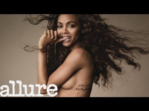 Zoë Saldana Attempts Star Trek Trivia - Cover Shoots - Allure
