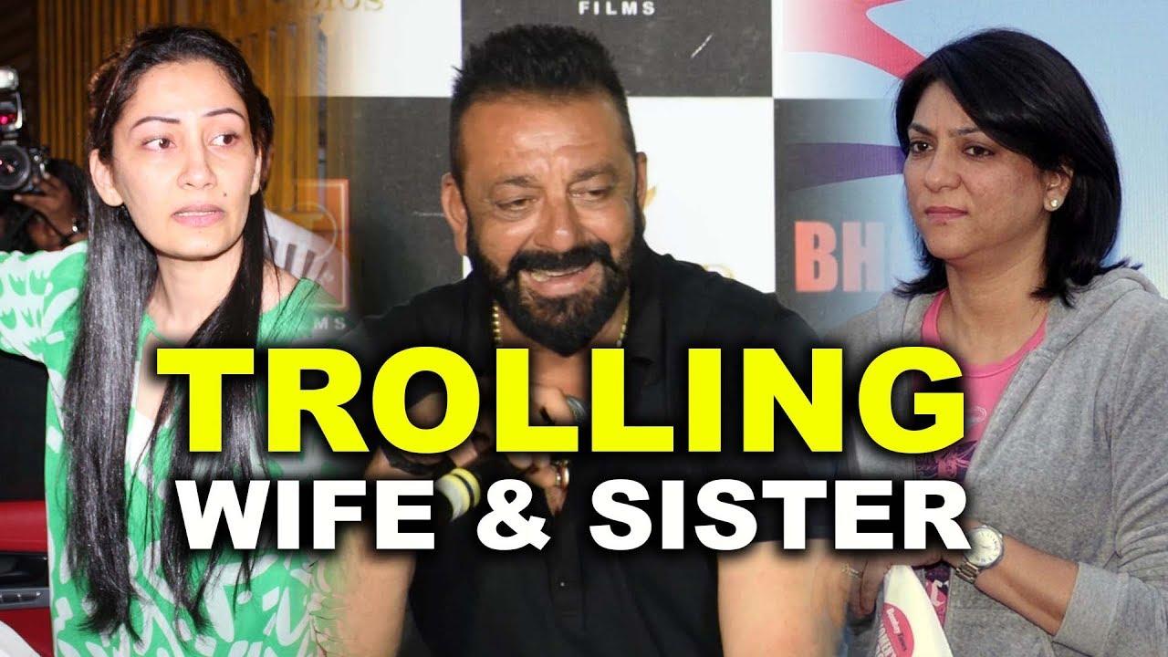 Sanjay Dutt Trolling Wife Manyata & Sister Priya Dutt ...