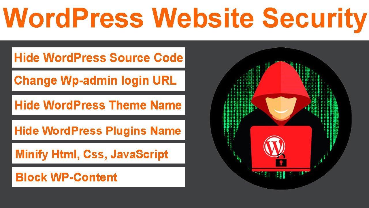 Wordpress Website Security Enhancement Hide Wp Source Code Change Wp Admin Url Youtube