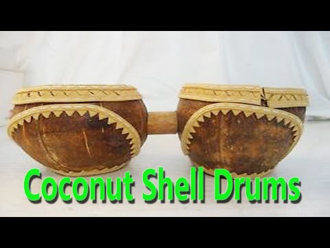 Hand Made Coconut Shell Drums   Best From Waste Material   Hand Creativity   Easy Step to Follow