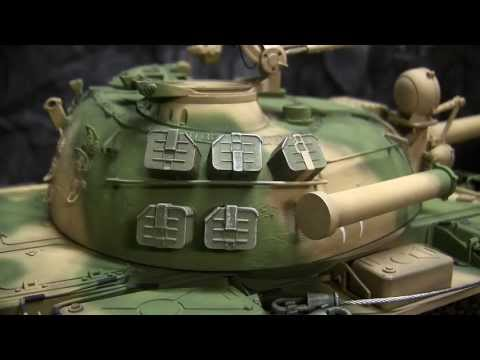 Hooben 1/16th scale Iran Iraq war RC Iraqi T55 Model showcase video
