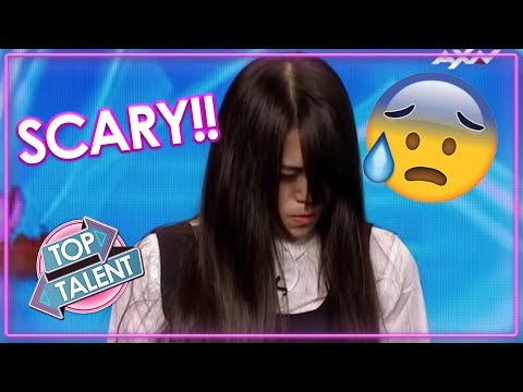 TERRIFYING TALENT! Freaky Magician GIRL Scares Judges & Audience On Asia's Got Talent! - Видео онлайн