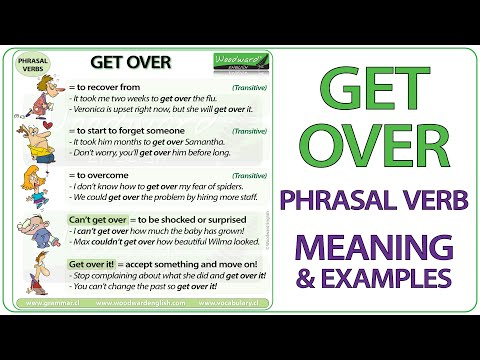 GET OVER - Phrasal Verb Meaning & Examples in English