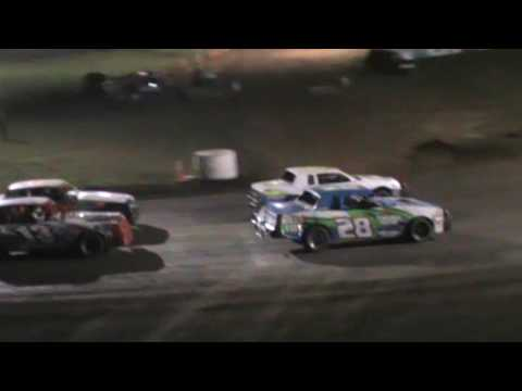 Big wreck in factory stock feature at humboldt speedway 5/12/17