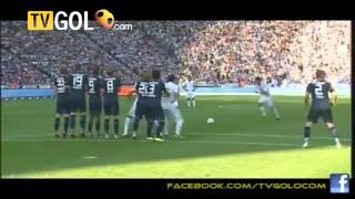 Brilliant free kick Cristiano Ronaldo! Hertha Berlin 1 1 Real Madrid   YouTube