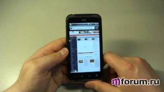 обзор HTC Incredible S - браузер и интернет